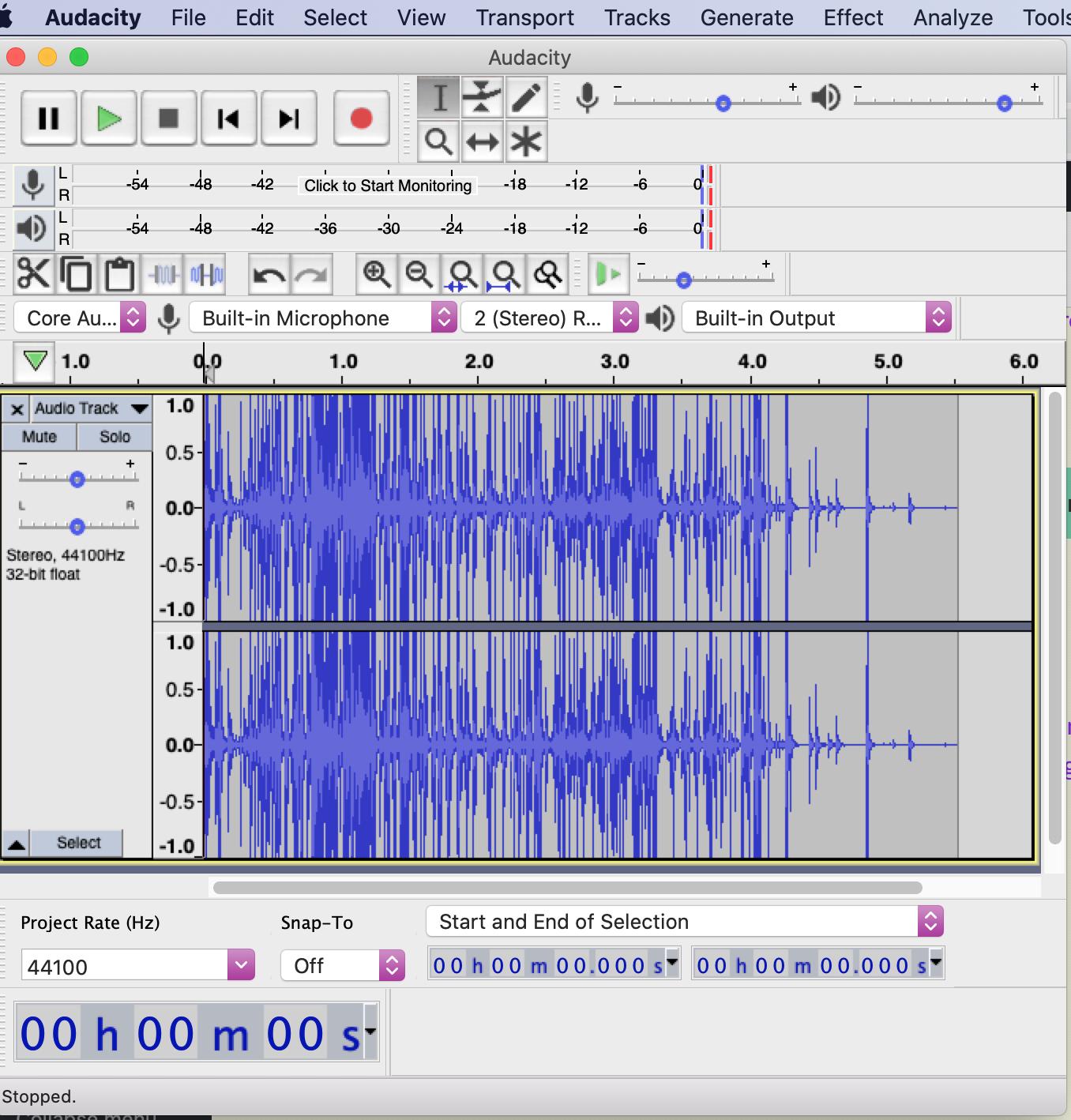Audacity free sound recording and editing