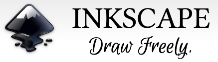 Inkscape vector drawing app logo and link